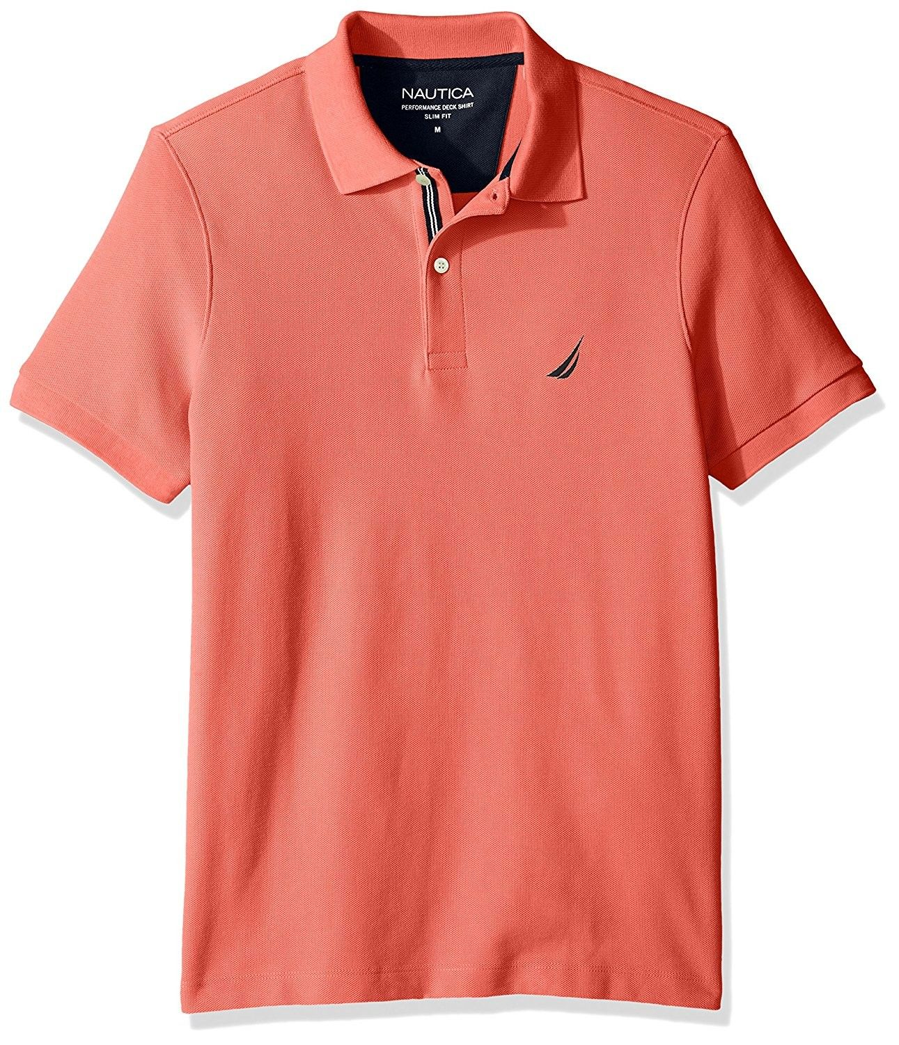 f2212d7ae5df6 Nautica Men s Short Sleeve Performance Pique Polo With Tipping ...