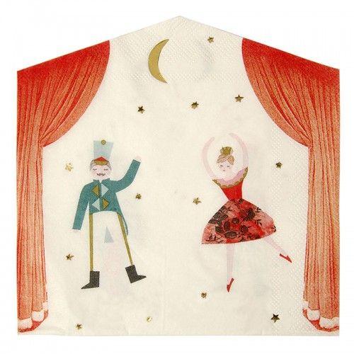 Nutcracker Theatre Napkins By Meri Meri