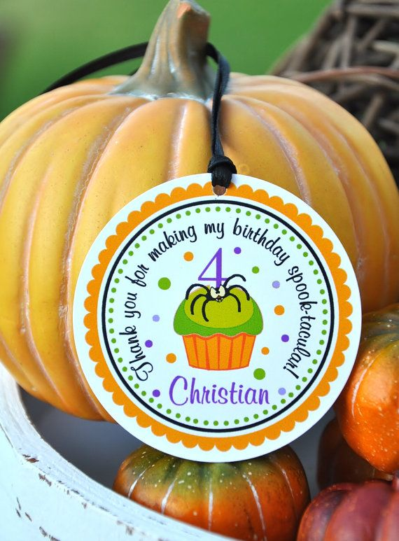 Halloween Birthday Party Hang Tags Personalized by thepaperkingdom, $8.00