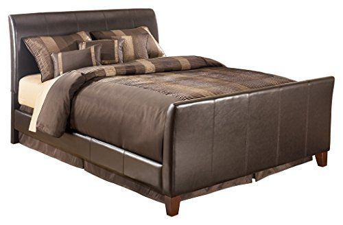 Beau Ashley Furniture Signature Design   Stanwick Contemporary Upholstered  Bedset   Queen Size Bed   Brown