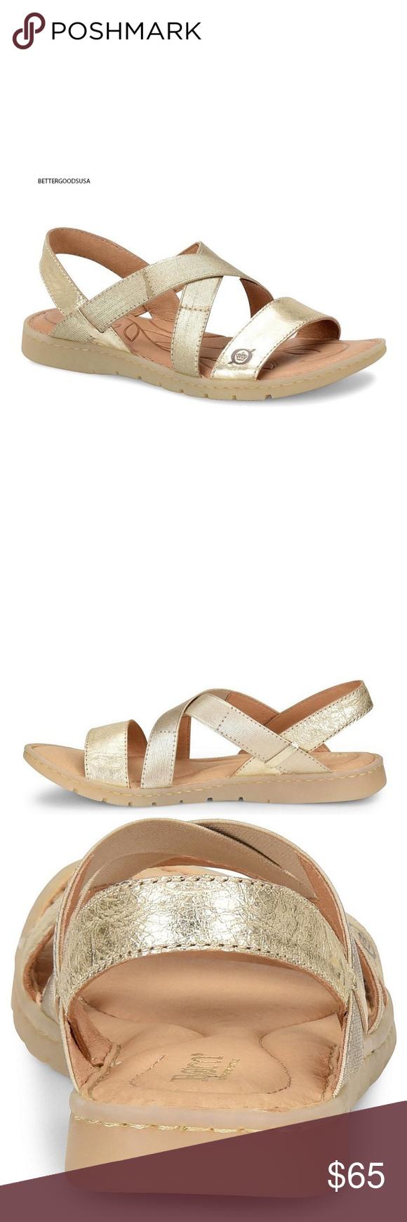 47e6617ad1474 Born Atiana Slingback Leather Sandals Gold 9 M SIZE  US 9 M Condition  BRAND
