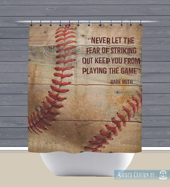 Baseball Shower Curtain Babe Ruth Quote By Brandifitzgerald