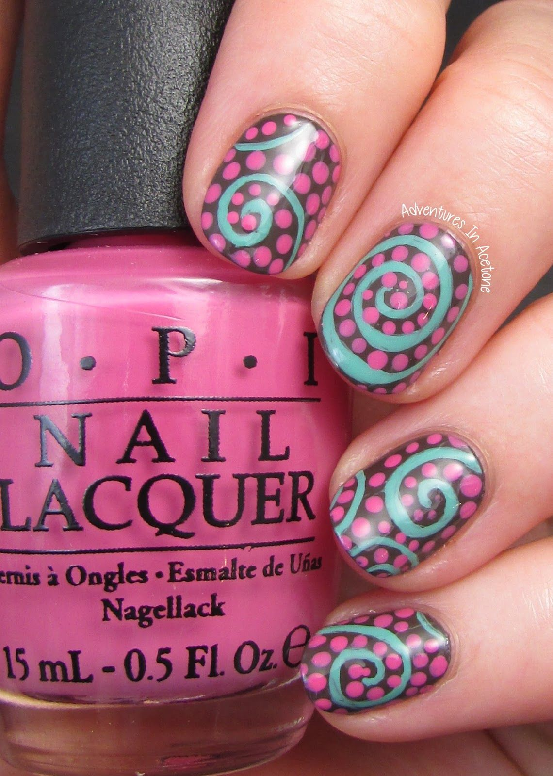 Adventures In Acetone: Swirl Nail Art With OPI Nordic Collection ...