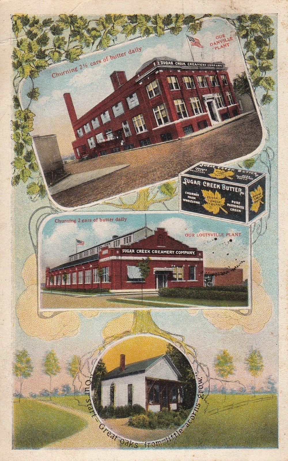 Spencer, IN Sugar Creek Creamery Advertising Postcard