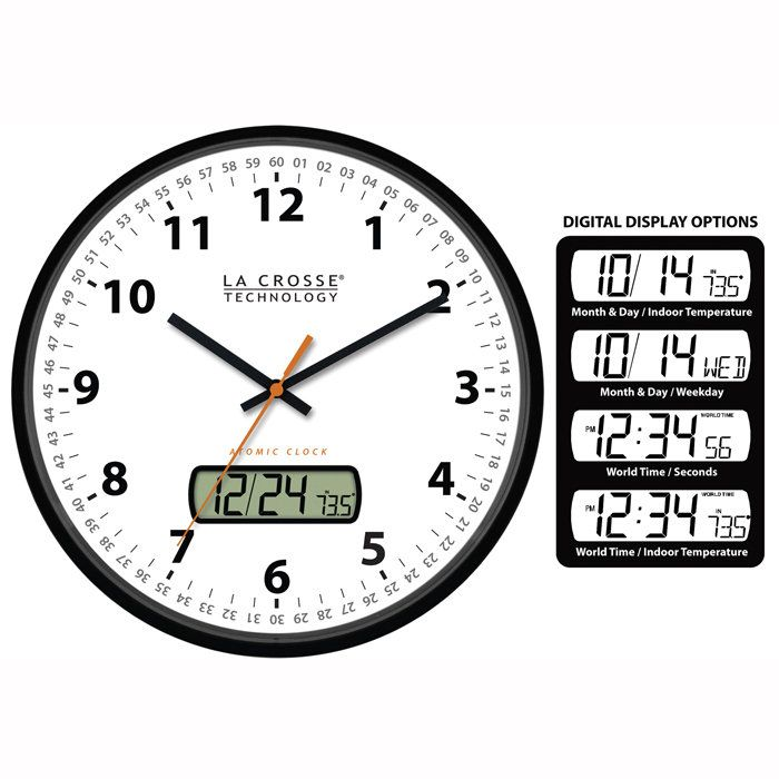 Analog Atomic Radio Controlled Time Wall Clock Atomic Wall Clock Wall Clock Clock