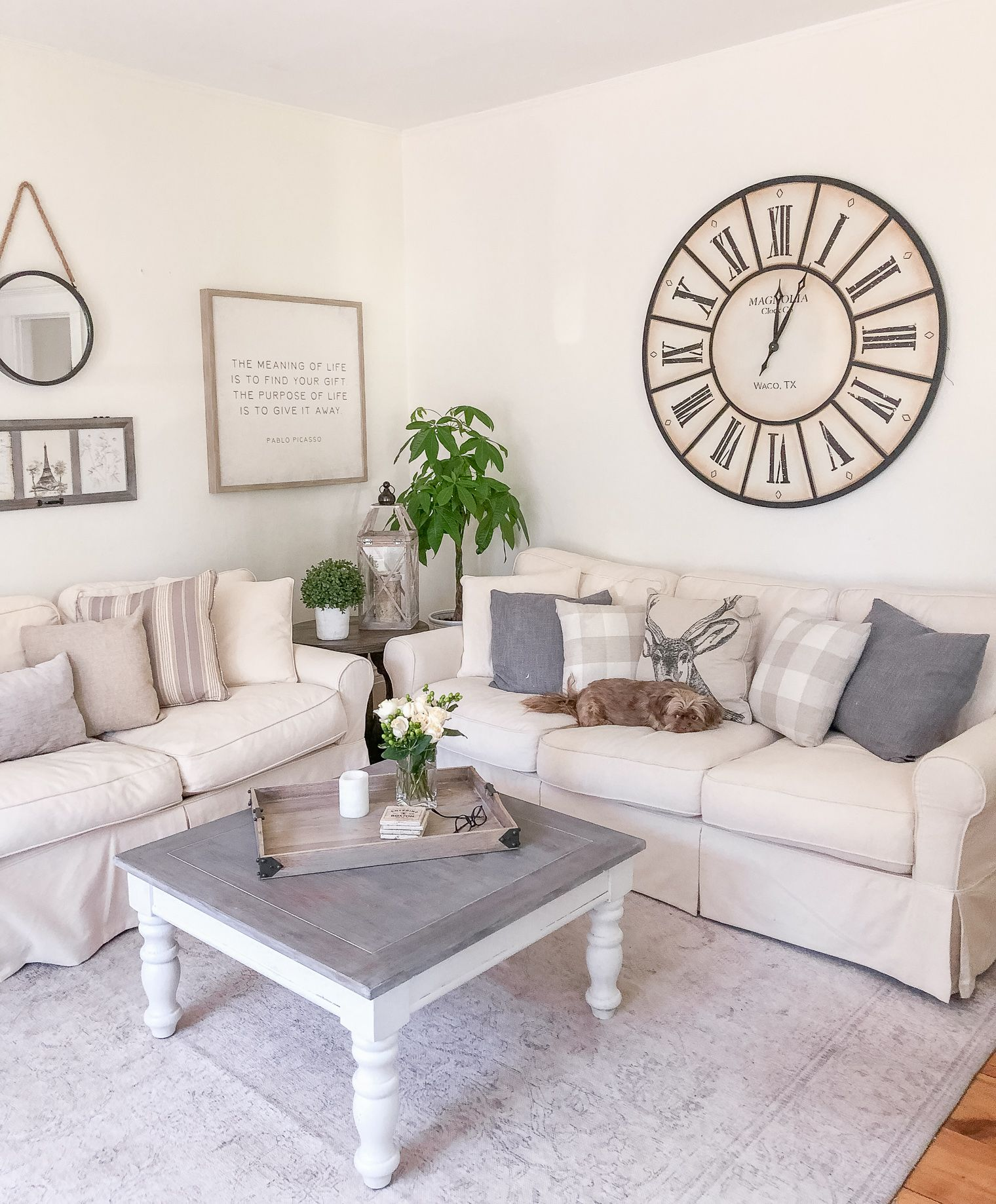 White Living Room Reveal With Raymour Flanigan With Images