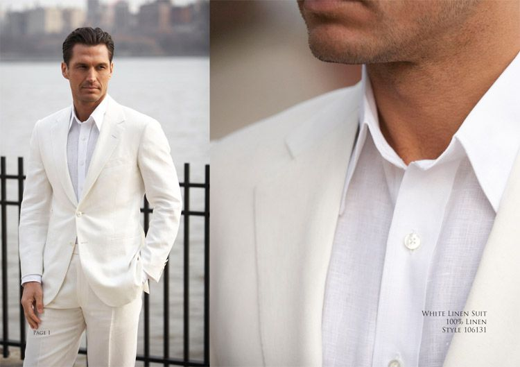Beach Wedding Groom ...white linen suit - Oxxford Clothes | Beach ...