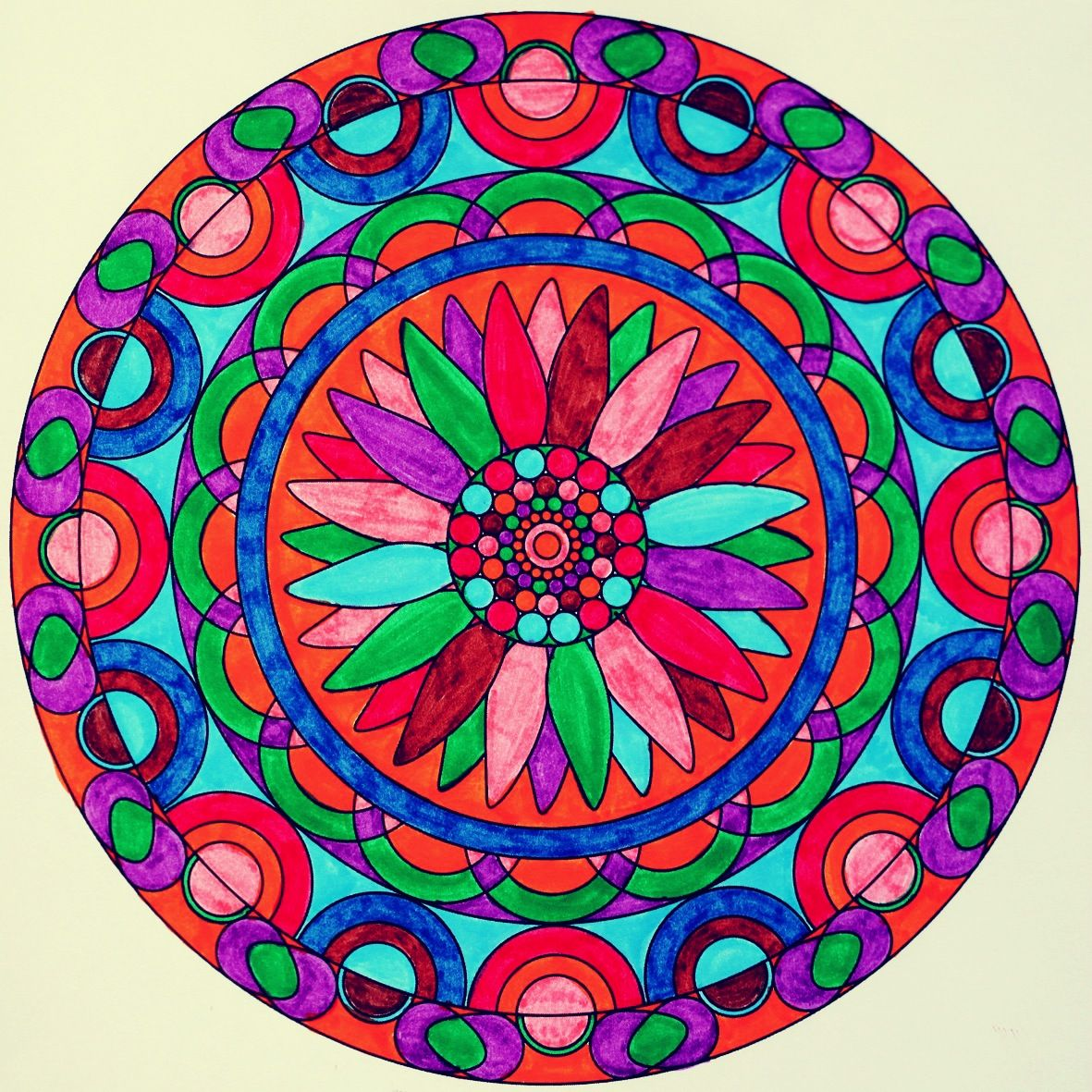 Colorful Mandala Mandala Art Mandala Coloring Mandala