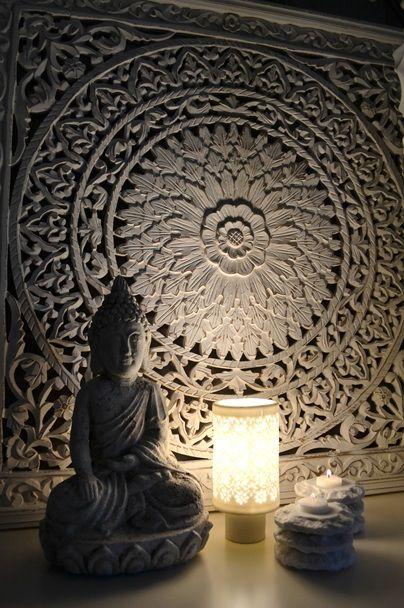 Prachtig wandpaneel van buddha deko for Asiatische wohnungseinrichtung