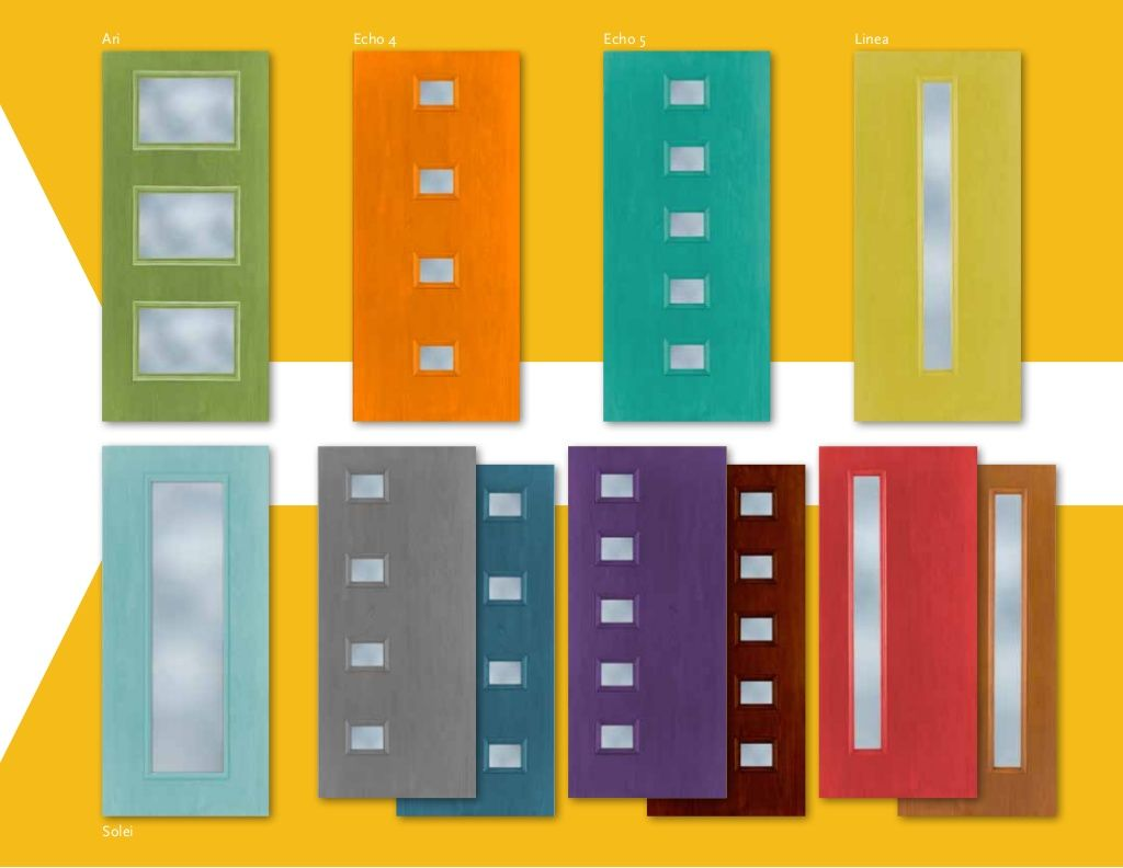 Mid Century Modern Interior Doors a whole crayon box full of mcm entryway doors!therma-tru