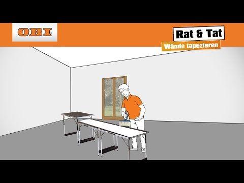 Wände tapezieren Tapezieren Anleitung Rat \ Tat - YouTube - tapezieren fenster
