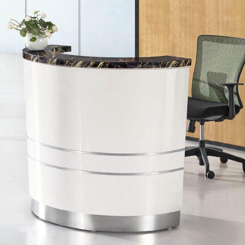 Wholesale Price Modern Commercial Front Desk Curverd Modern Spa Reception Desk Modern reception desk for sale
