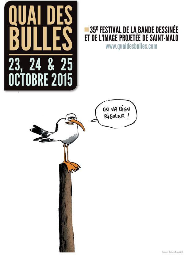 Quai des Bulles 2015, ce sera du 23 au 25 octobre à Saint-Malo - http://www.ligneclaire.info/quai-des-bulles-2015-27566.html