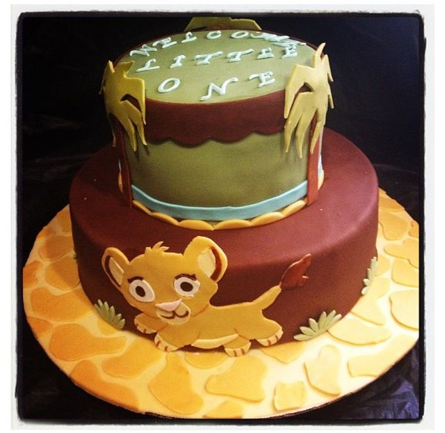 Lion King Cake Goes With The Party Decorations And Plates