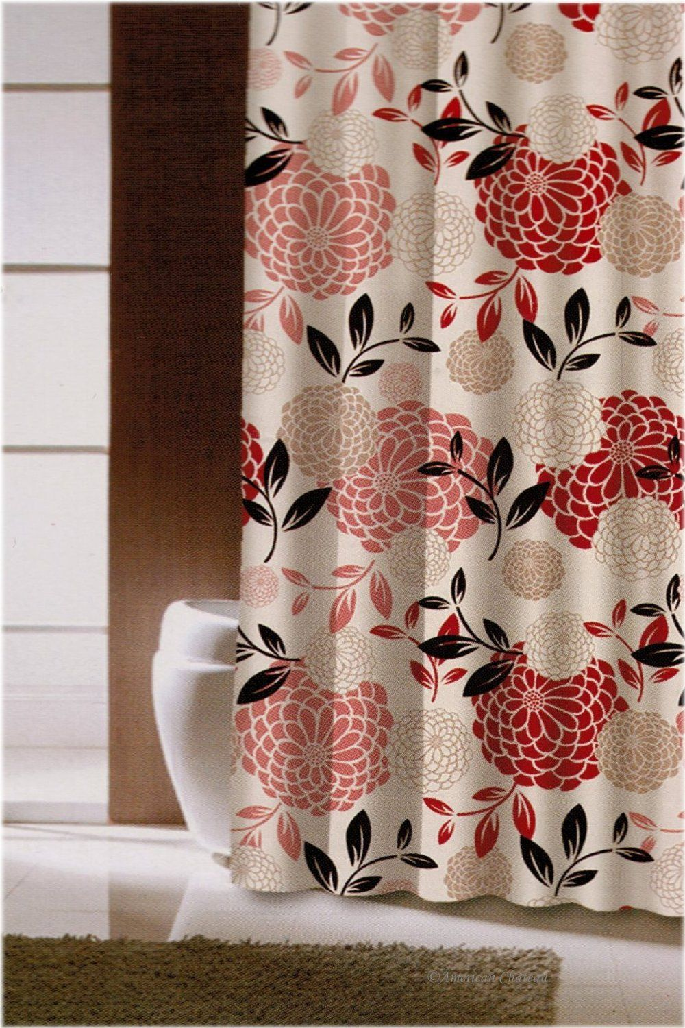 Amazon Com 70 X 72 Retro Colorful Red Pink Taupe Floral