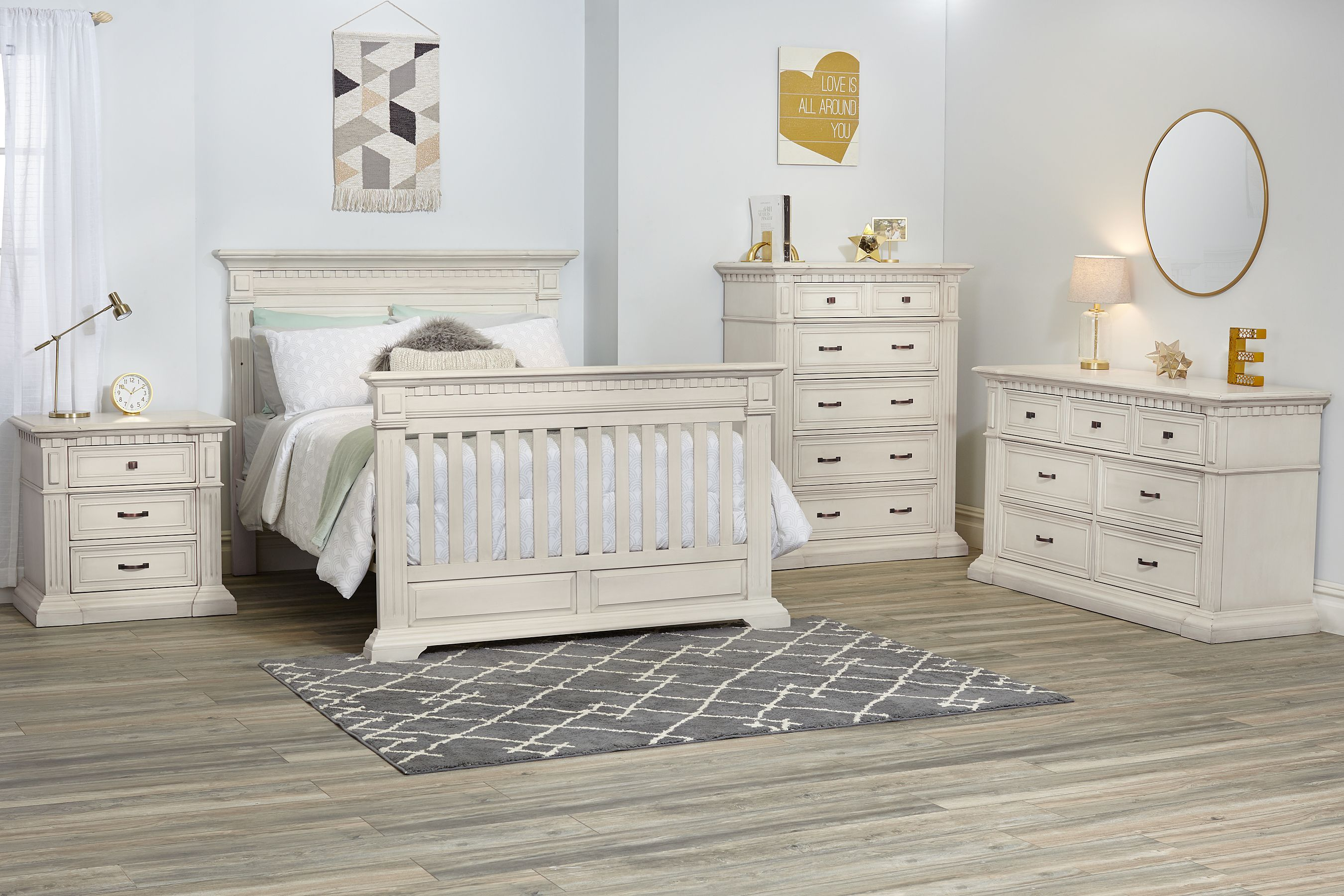 Kingsley Venetian Collection In Antique White Nursery Furniture Collections