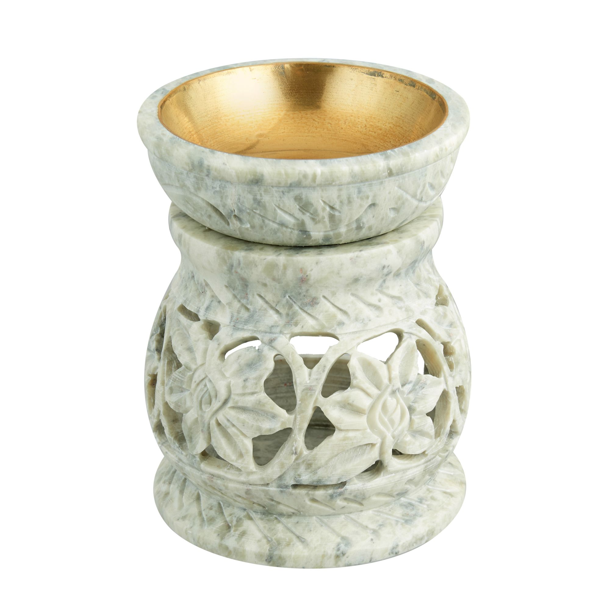Stone Soapstone Oil Tart Warmer Spa Meditation Aromatherapy Tealight Modern Essential Oil Burner Oil Warmer Essential Oil Burner Tea Light Holder