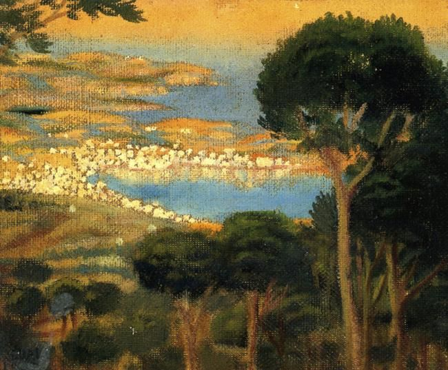 famous spanish paintings | ... Cadaqués from Mount Pani. -Salvador Dali Painting | Famous Painters