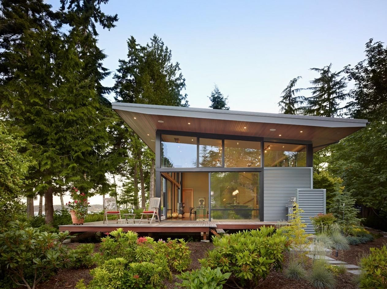 House · Winsome Modern House In Forest ... Home Design Ideas