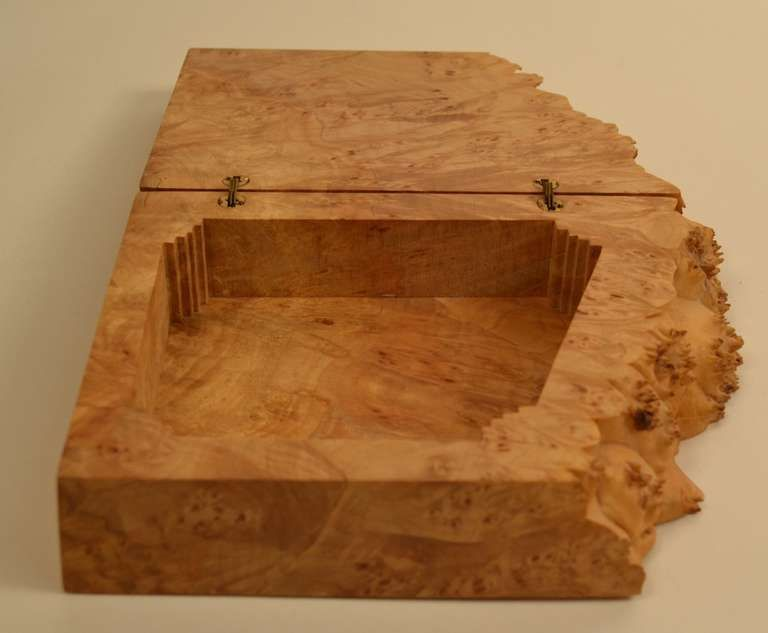 Michael Elkan Hinged Burl Jewelry Box Box Box hinges and
