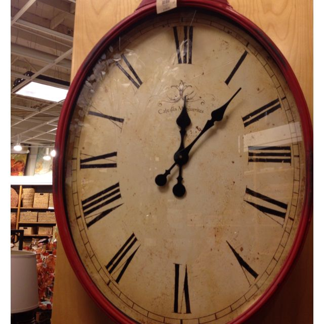 Antiqued Red Wall Clock From Pier 1 Imports Red Wall Clock House Styles Home Decor