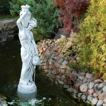 Fontanna Greczynka Z Dwoma Dzbanami Garden Sculpture Outdoor Decor Outdoor