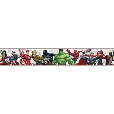 York Wallcoverings Marvel Characters Sure Strip Wa