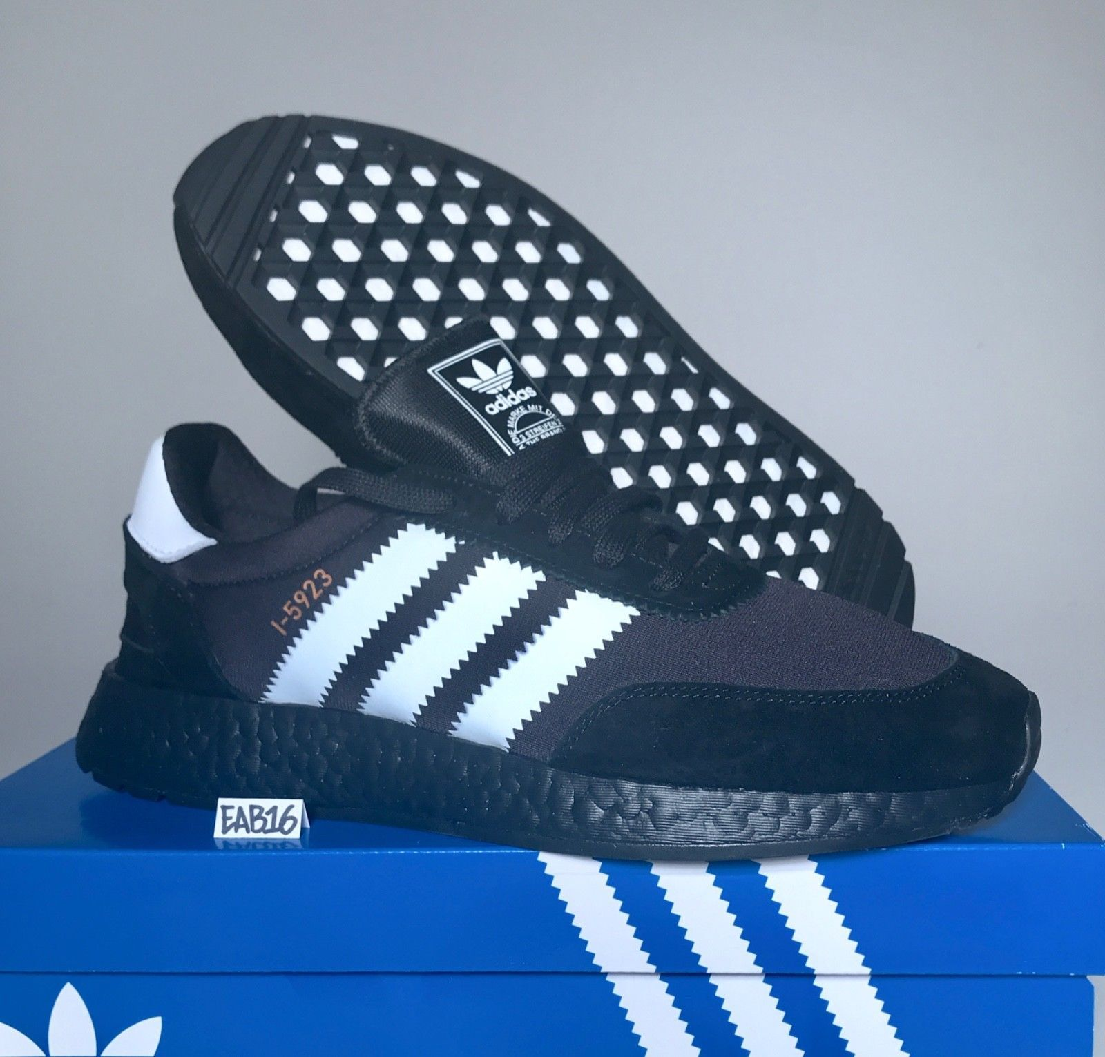 87885d1a27d Adidas Iniki Runner I-5923 Triple Core Black Boost and Running White Size  Cq2490