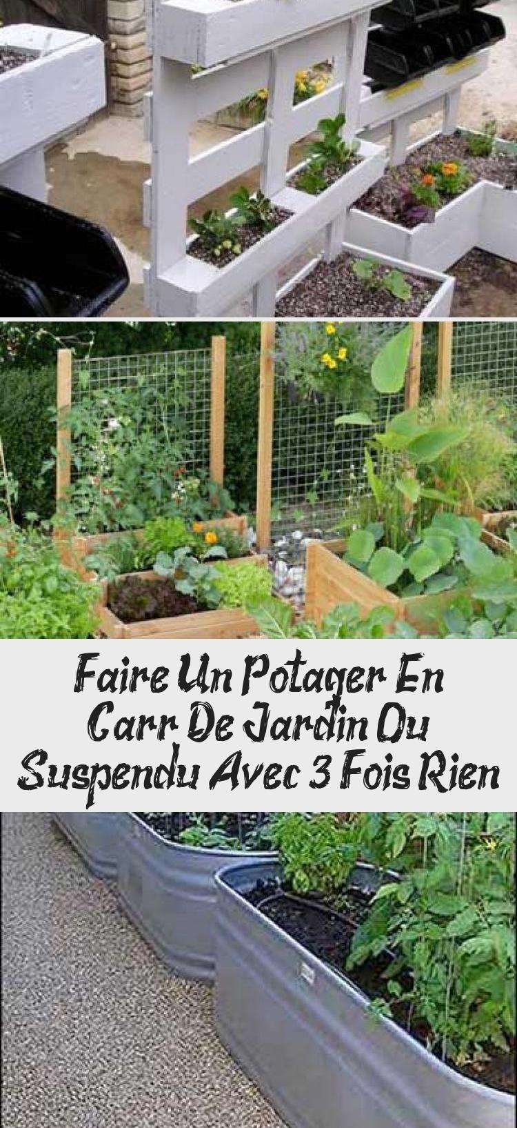 Un Potager En Carré faire un potager en carré de jardin ou suspendu avec 3 fois