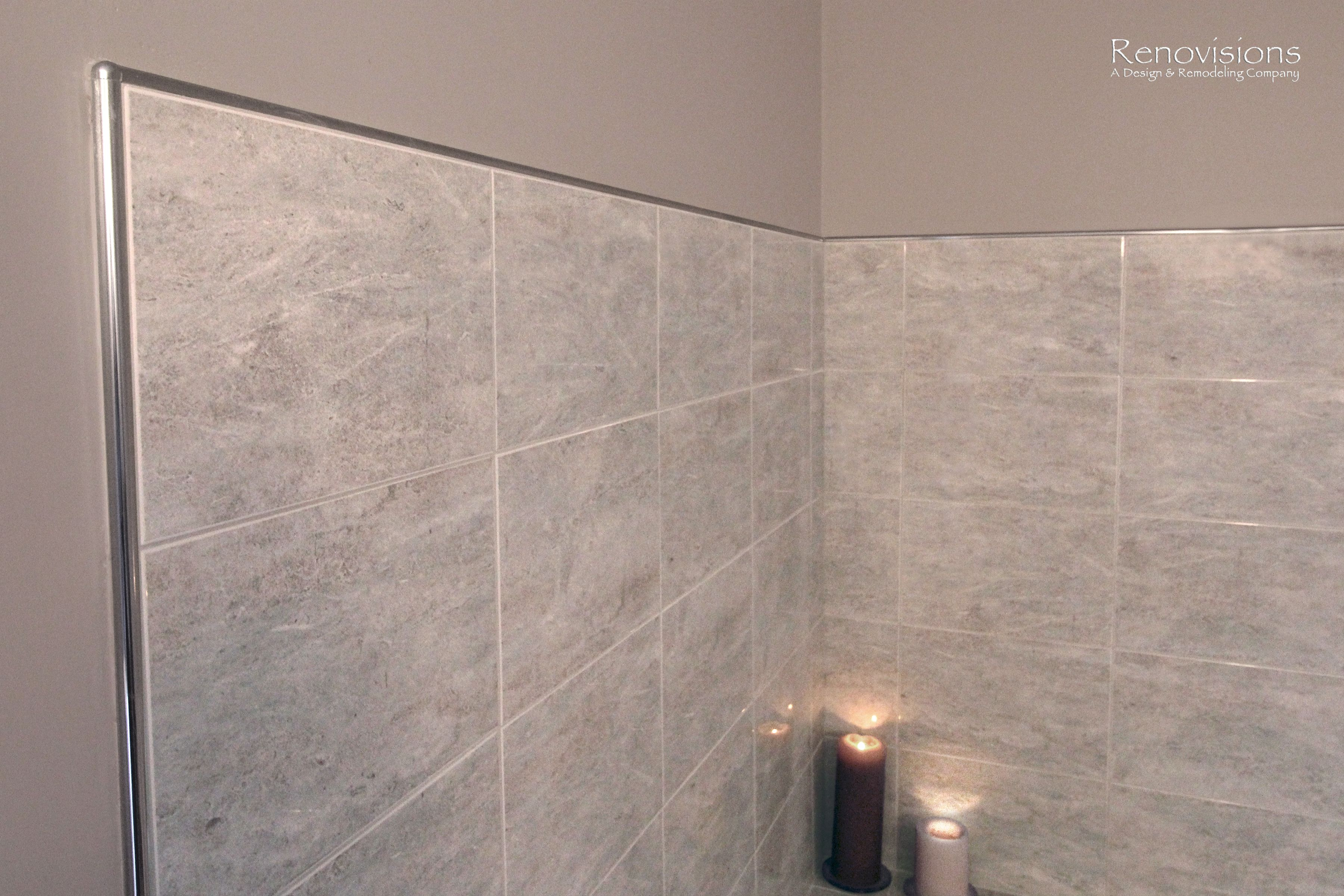 Bathroom remodel by Renovisions. Contemporary style