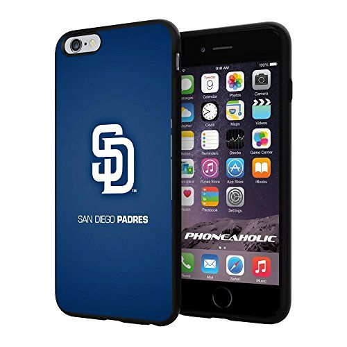 """MLB San Diego Padres Baseball,Cool iPhone 6 Plus (6+ , 5.5"""") Smartphone Case Cover Collector iphone TPU Rubber Case Black Phoneaholic http://www.amazon.com/dp/B00VSDB2C8/ref=cm_sw_r_pi_dp_plKnvb15TESSW"""
