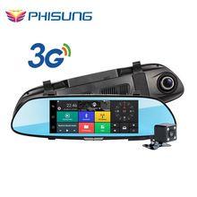 3G WCDMA Android 5.0 GPS Navi Car DVR Camera video recorder Bluetooth FM WIFI Dual Lens rearview mirror Camcorder Dash cam dvrs