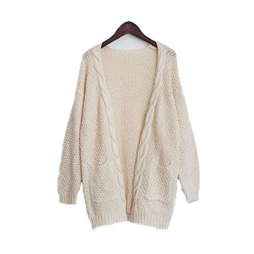 d19f28ef96f S.CHARMA Femme Oversize Noël Pull Tops Col V Manches Longues Casual Shirt  Robe Automne