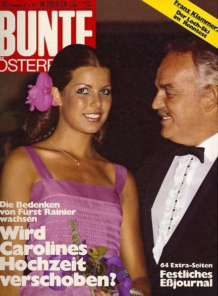 1977: Fürst Rainier und Caroline von Monaco