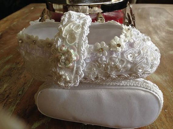 Baby All Lace Beaded Soft Christening by LaBoutiqueBride on Etsy, $60.00