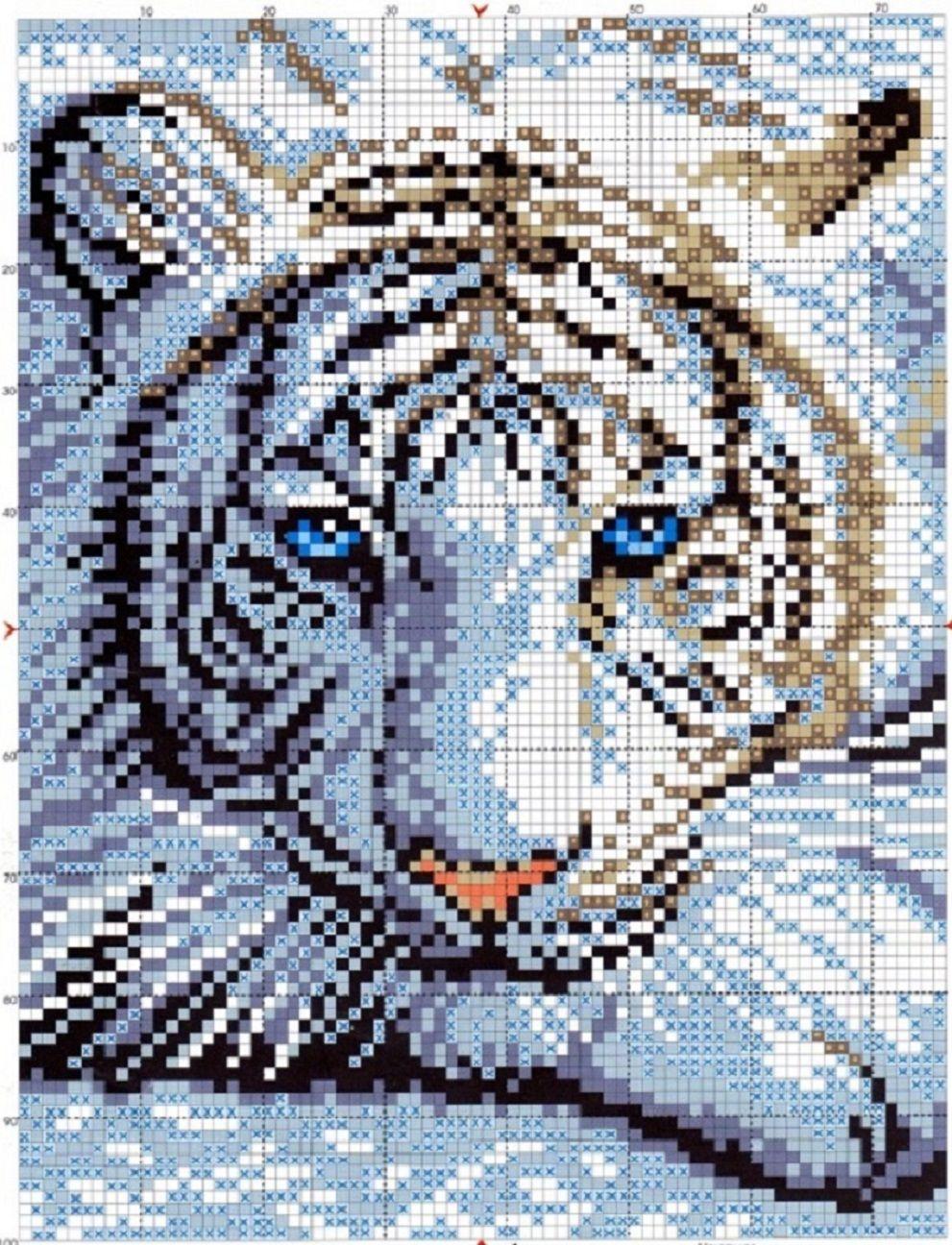 Вышивка тигренок схема скачать бесплатно фото 509