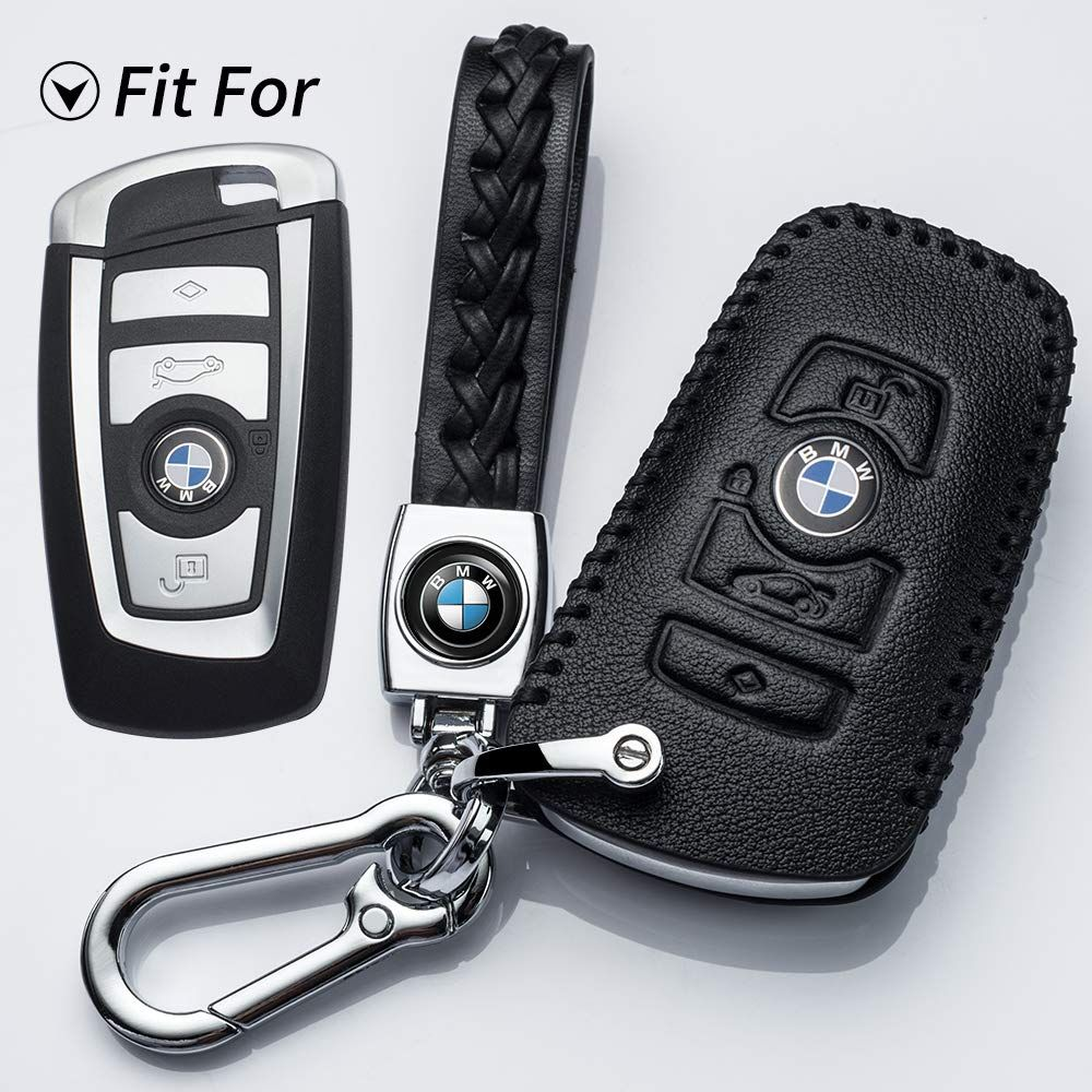 Hey Kaulor For Bmw Key Fob Cover Full Protection Soft Leather Key