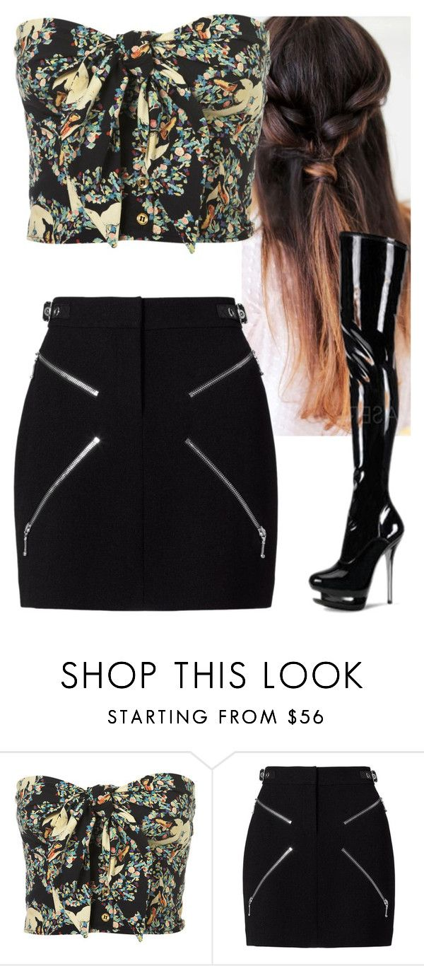 """""""Untitled #8911"""" by carmellahowyoudoin ❤ liked on Polyvore featuring Alexander Wang and Pleaser"""