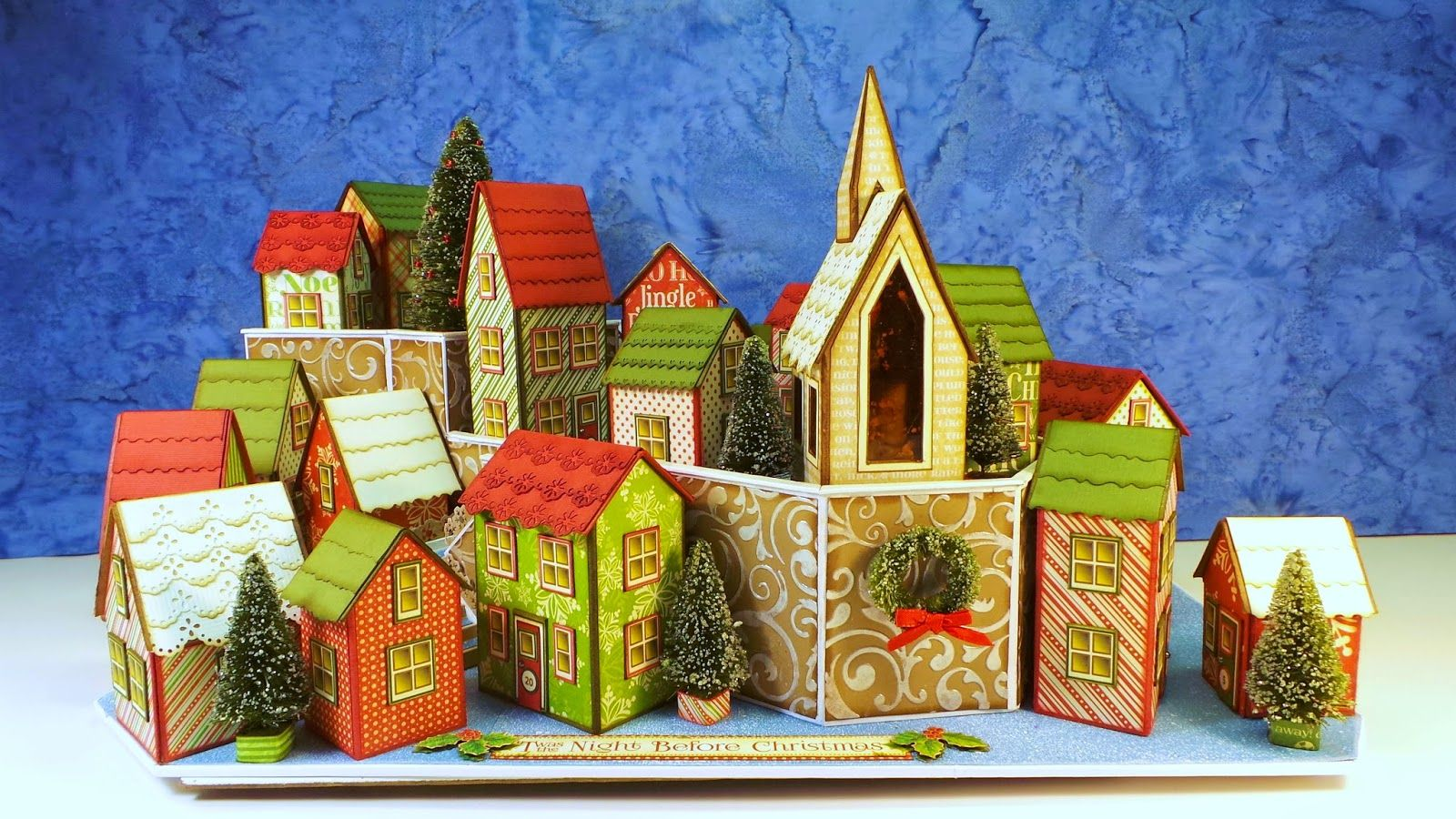 Craft Knife Chronicles Twas The Night Before Christmas Village