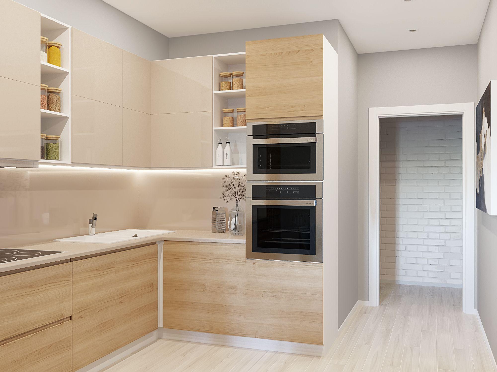 угловые кухни с высокими напольными шкафами фото бойлере нагревается, расширяется