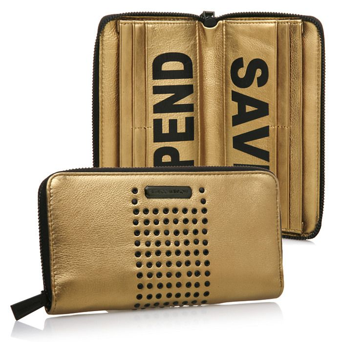 Rebecca Minkoff Save Spend Wallet, Metallic Gold | $250.00 Check out more at Beauty.com #MostPinned #Beauty #Gifts