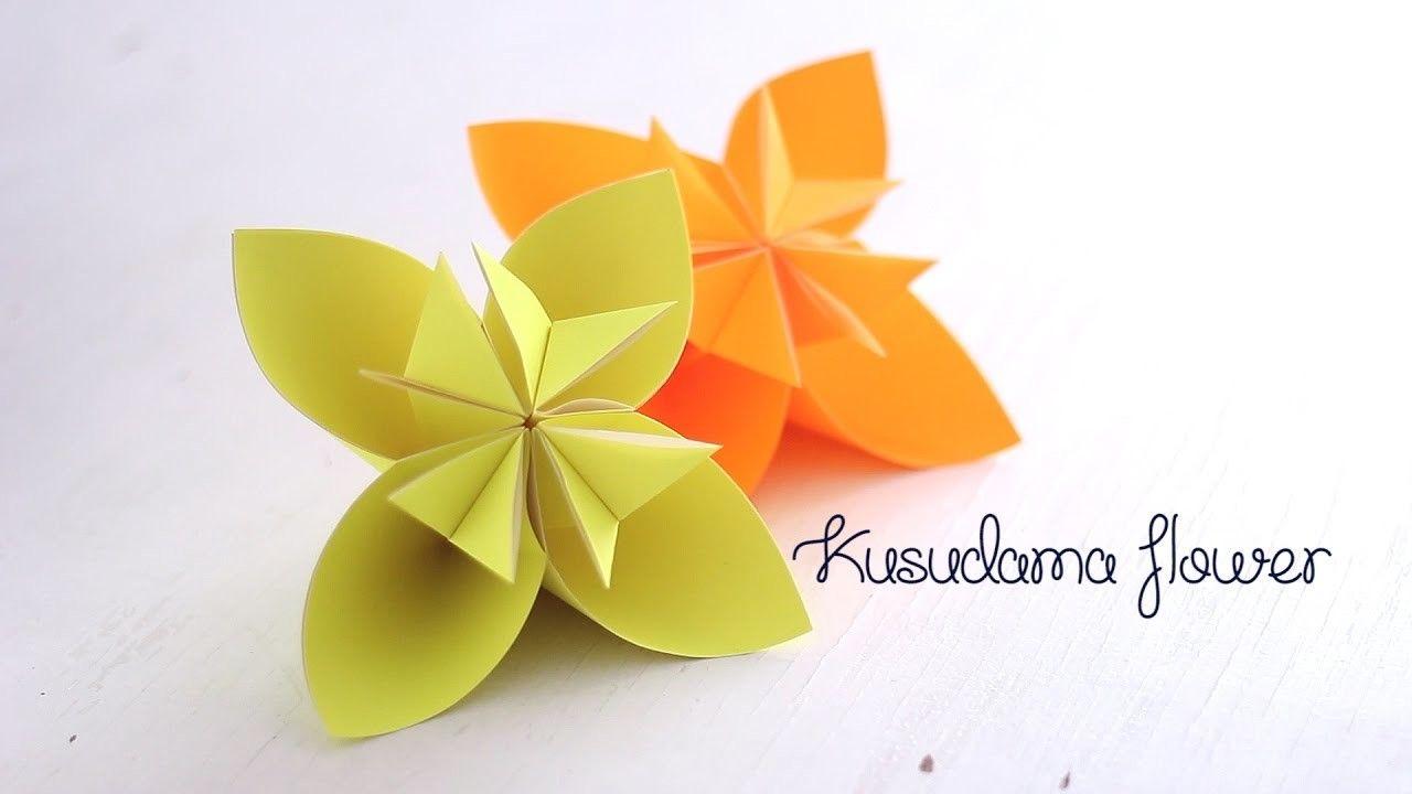 Origami Kusudama Flower Origami Diy Origami And Flower