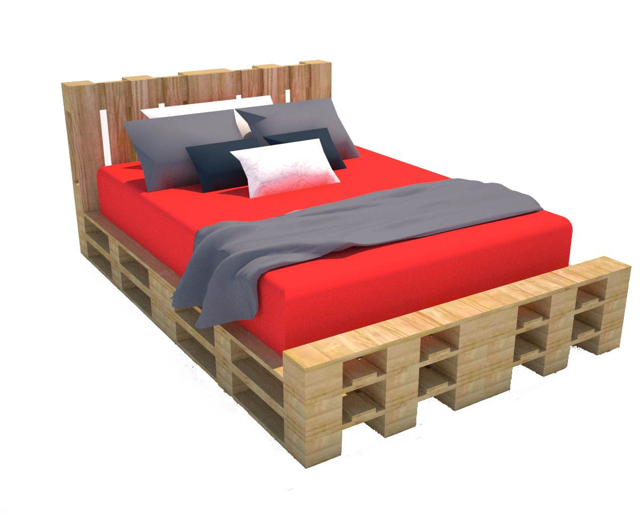 Come costruire un letto con pallet riciclati progetto - Costruire mobili fai da te ...