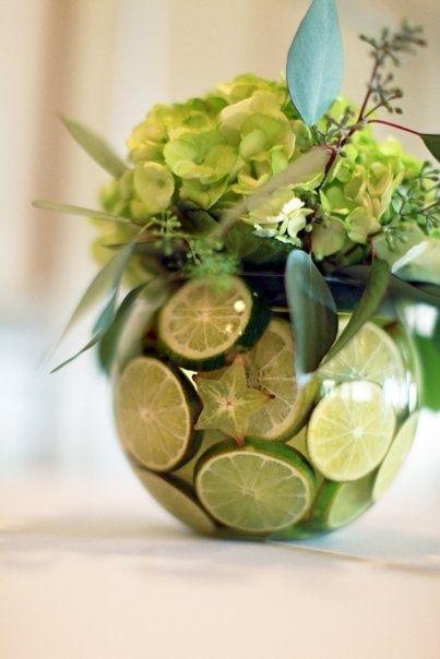 Consigue un centro de mesa sencillo colorido y con un - Centros de mesa con limones ...