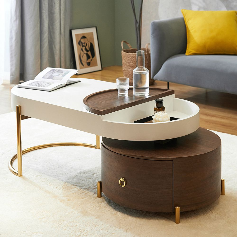 Modern Black Coffee Table With Storage Square Drum Coffee Table With Drawer Coffee Table Living Room Modern Table Decor Living Room Coffee Table [ 889 x 889 Pixel ]