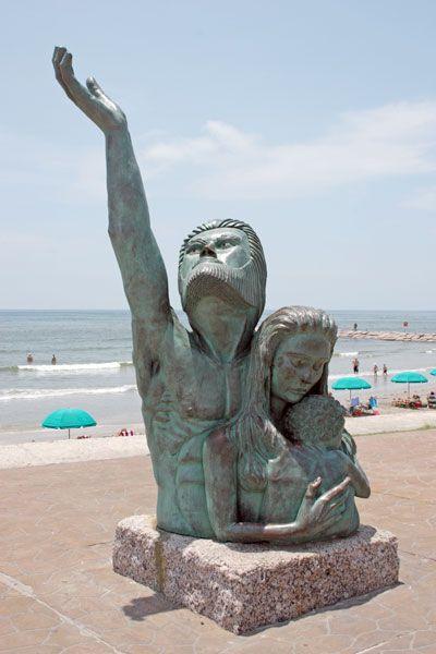 Picture Storm Of 1900 Statue Galveston Texas Galveston Seawall Galveston