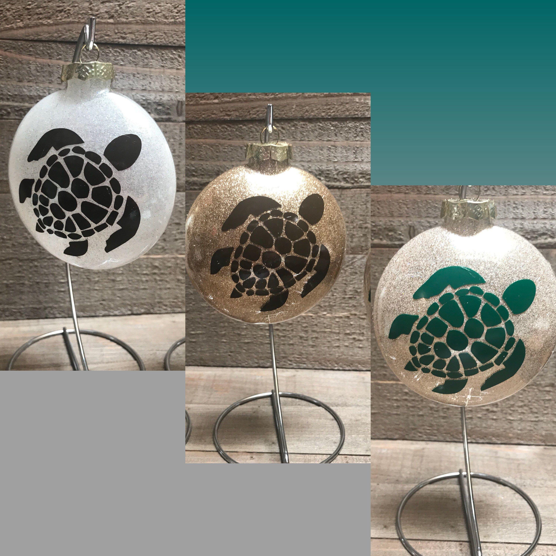 Honu, Turtle Ornament, Hawaiian Ornament, Glass ornament ...