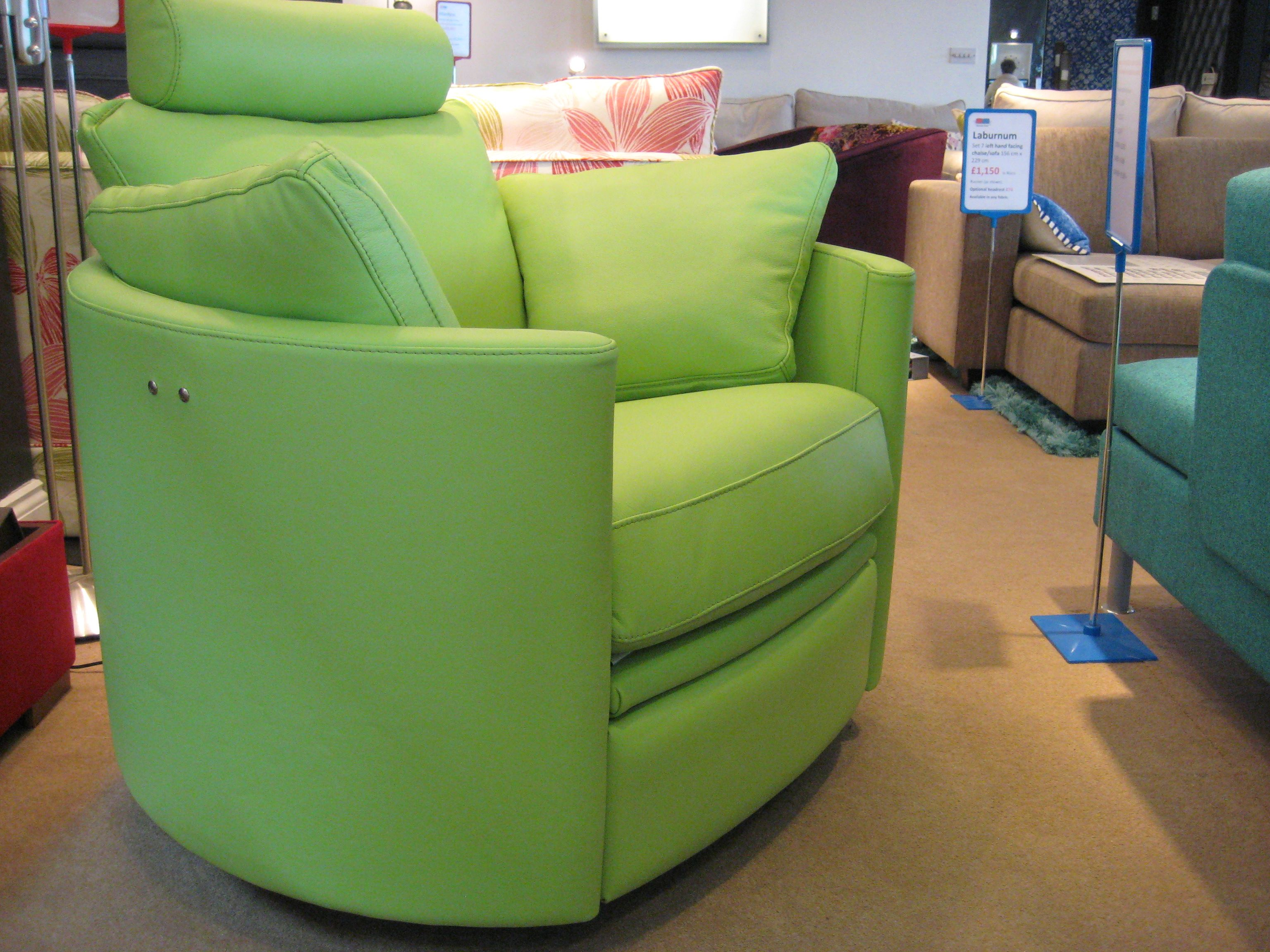 Zingy lime green leather for this fun modern electric chair. Who ...