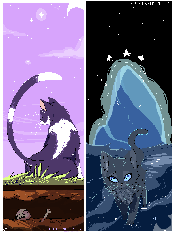 Tallstar S Revenge And Bluestar S Prophecy Illustrations By