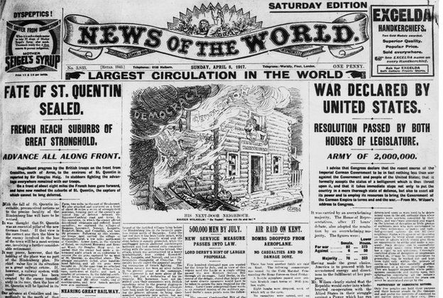 newspaper headlines 1917 - Google Search The News Headlines - newspaper